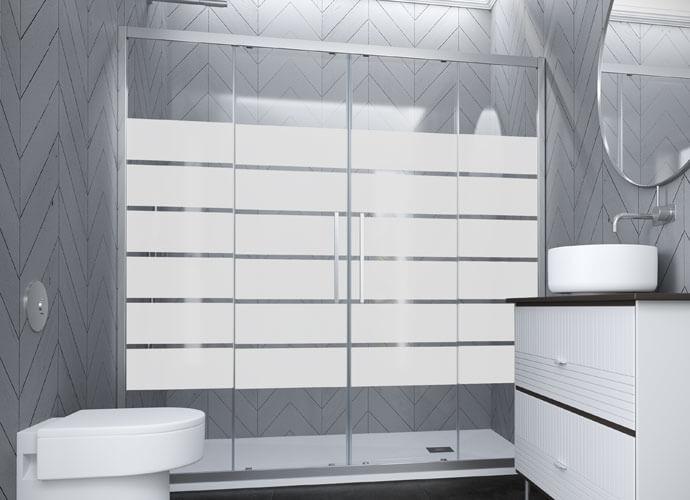 Divisória de duche corrediça el225 Profiltek