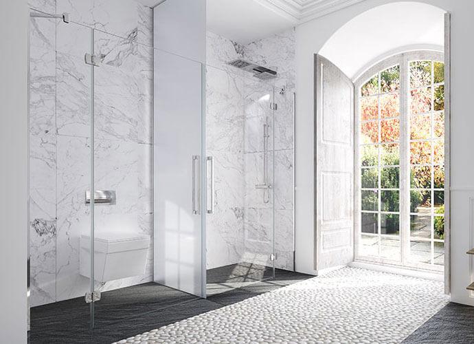 Mampara para baño diseño especial Profiltek ES213-NG290