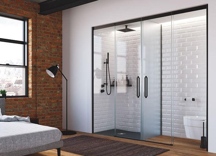 Ducha mas Wc en baño diseño a medida Profiltek va225