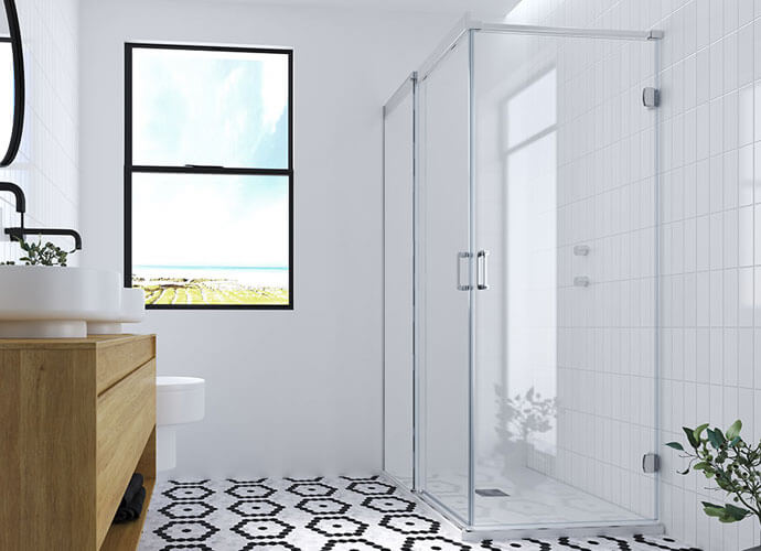 Mampara ducha diseño a medida Profiltek va250