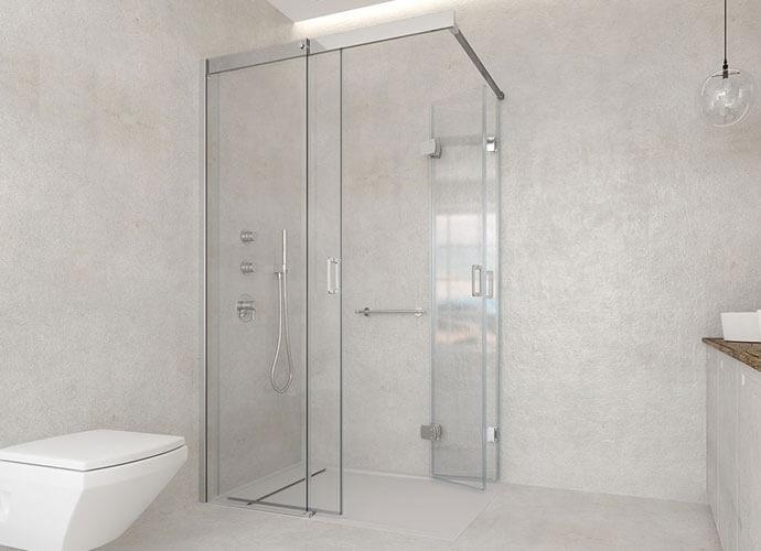 Mampara para baño diseño a medida Profiltek ES217