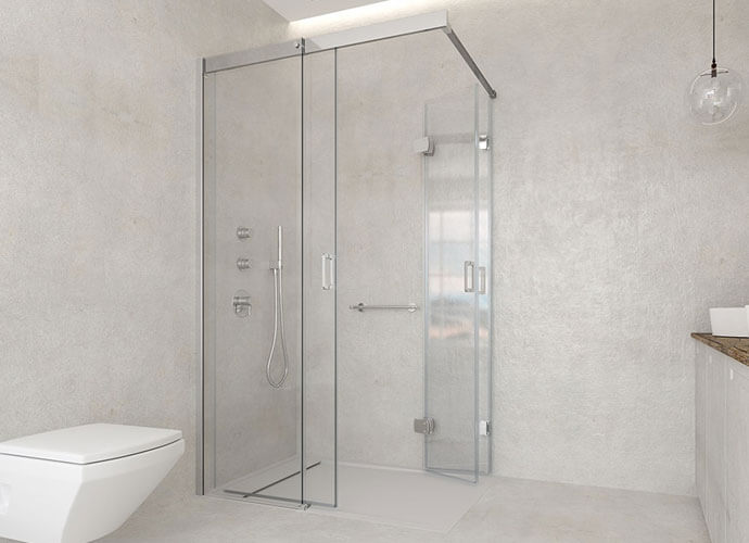 Mampara para baño diseño a medida Profiltek va250