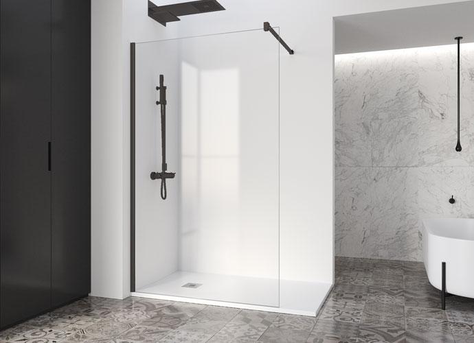 Mampara de ducha fija Profiltek serie Fado