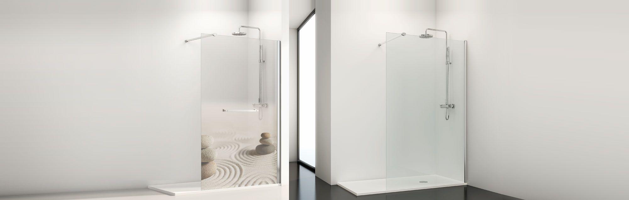 s rie fixes one parois walk in de douche sur mesure profiltek. Black Bedroom Furniture Sets. Home Design Ideas
