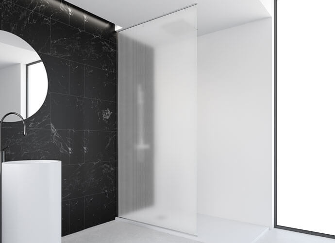 Mampara ducha fijos one a medida fija suelo a pared OV2016