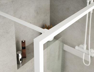 Barre multiposition. Finition Blanc Mat FIXES NORDIC Profiltek