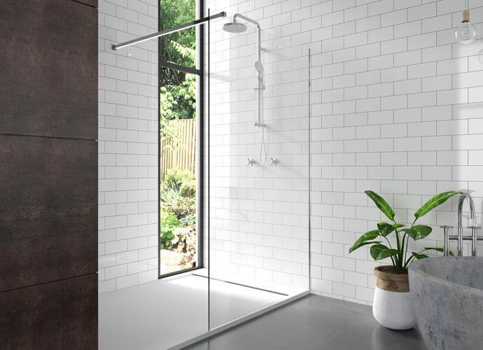 Shower enclousure with bar Profiltek