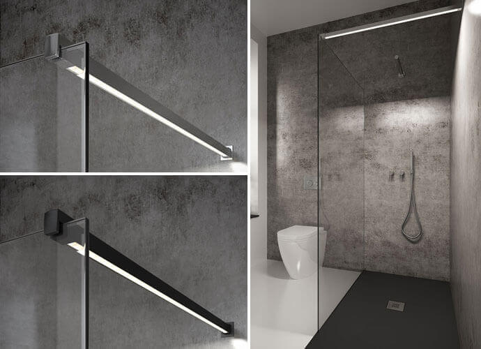 Fixed one shower enclousure made to measure Profiltek