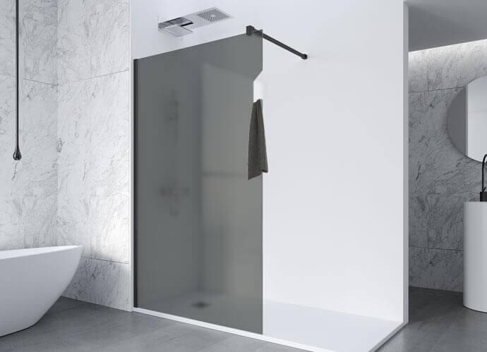 Parois de douche fixe avec porte-serviette integré