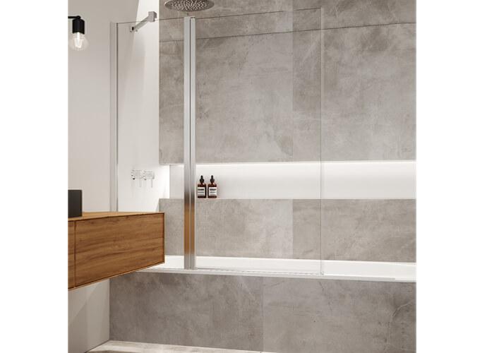 Hada Plus 106 hinged bath enclousure