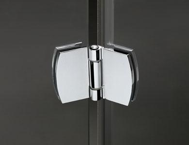 Hinge. High Gloss Chrome Finish NEWGLASS Hinged Model Profiltek