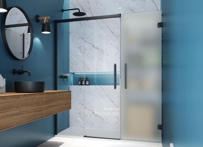 Konvert Hit divisória banho corrediça com armario