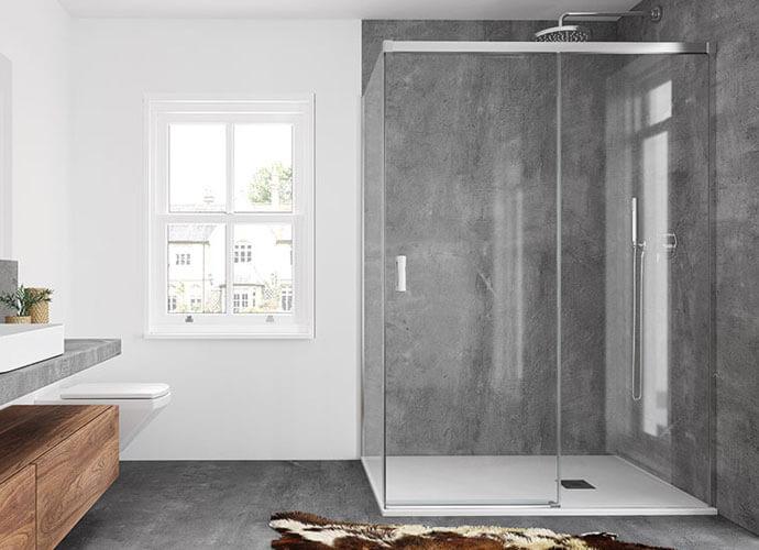 Divisória duche com folhas corrediças hit 210