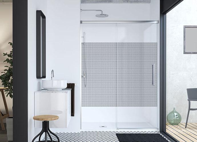 Mampara ducha especial baños pequeños hit 210