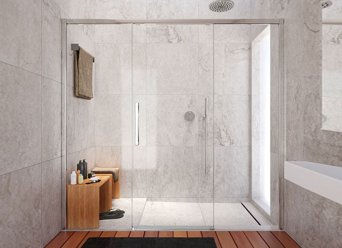 Sliding shower enclousure made to measure hit 230