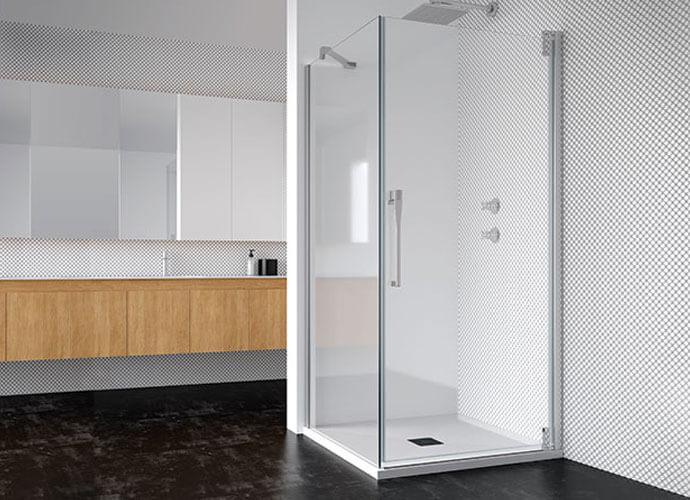 Swinging bath enclousure for smaill bathrooms Profiltek ke208