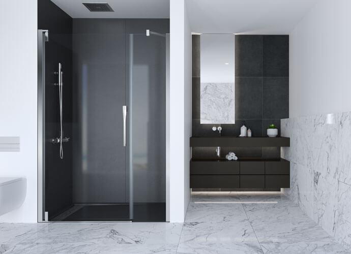 Mampara ducha abatible con maneta london de serie a medida Profiltek ke205