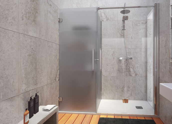 Konvert Arcoiris Plus folding shower enclousure with cabinet