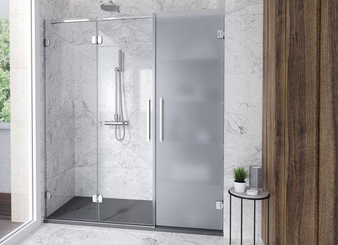 Konvert newglass divisória banho dobrável vidro ácido