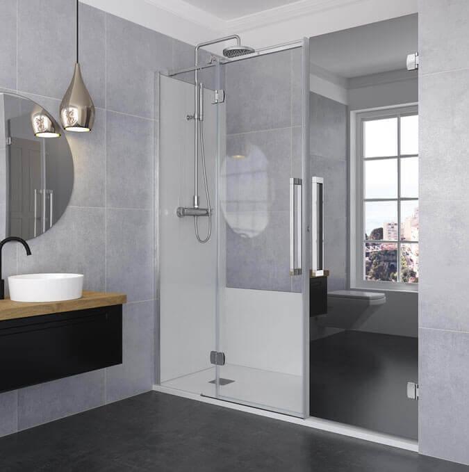 Konvert solution. Paroi de douche sur mesure coulissante, battante ou pliable.. Profiltek