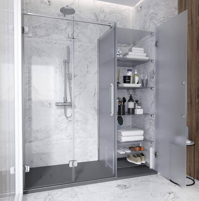 Troque a banheira pelo duche. Profiltek
