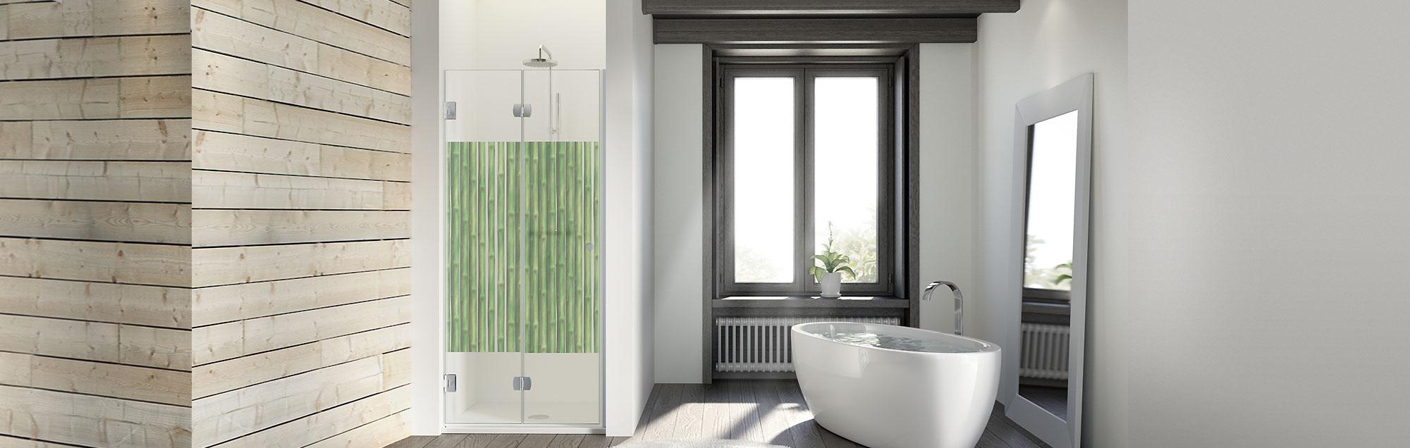 parois portes battantes pour douche et baignoire sur mesure de profiltek. Black Bedroom Furniture Sets. Home Design Ideas