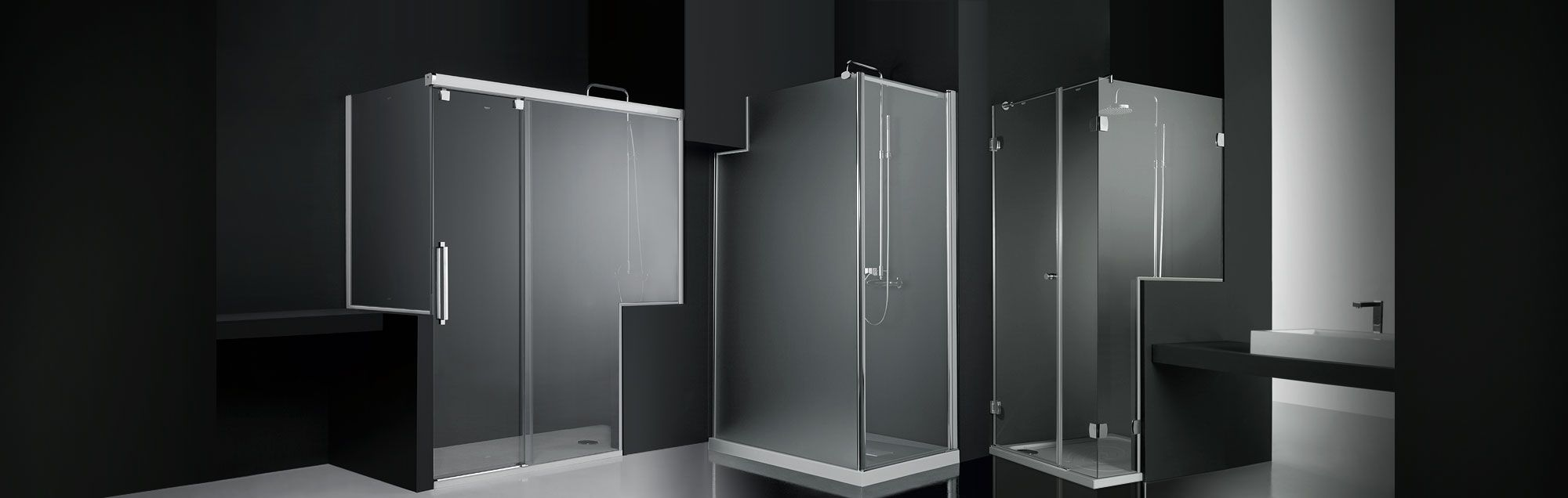 Box doccia con soluzioni speciali profiltek - Mamparas de cristal para banos ...