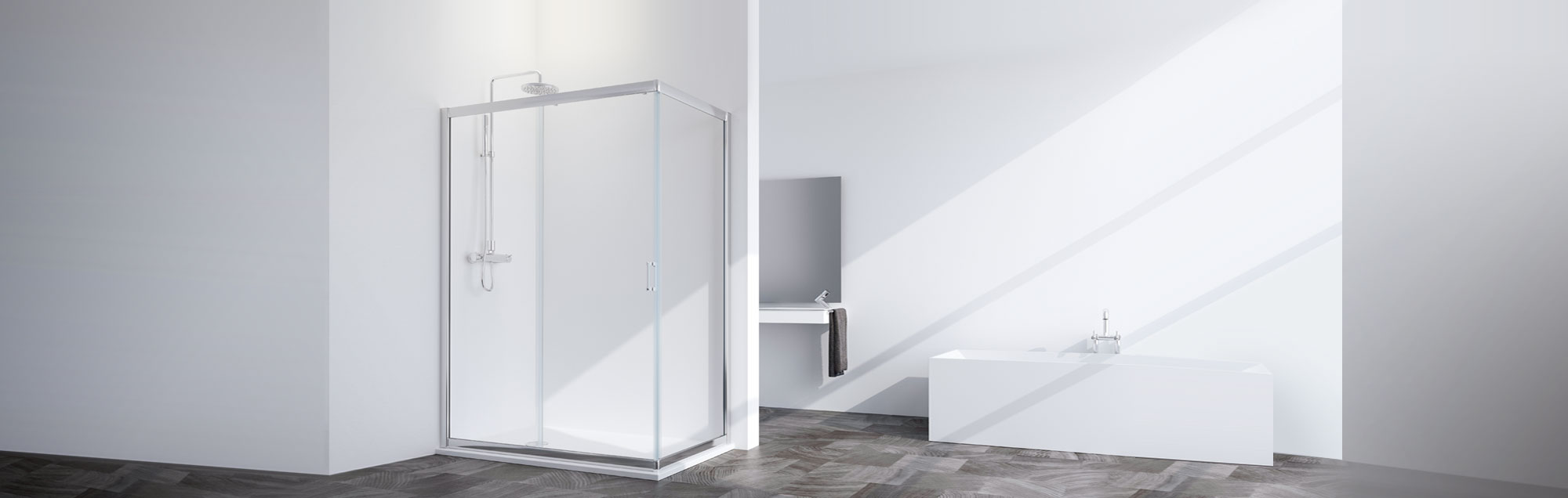 Mamparas standard de baño a medida PROFILTEK