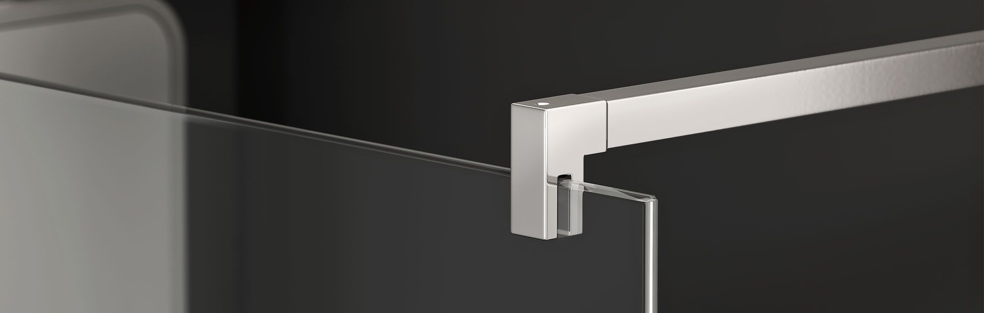 PROFILTEK walk-in made to measure bathroom enclosures