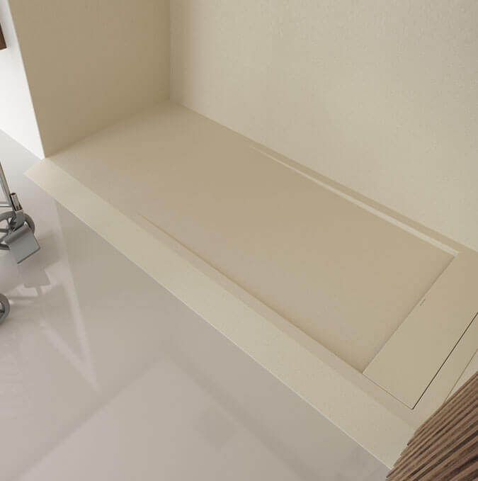 Base de duche extraplana com rampa de acesso Profiltek modelo Matis