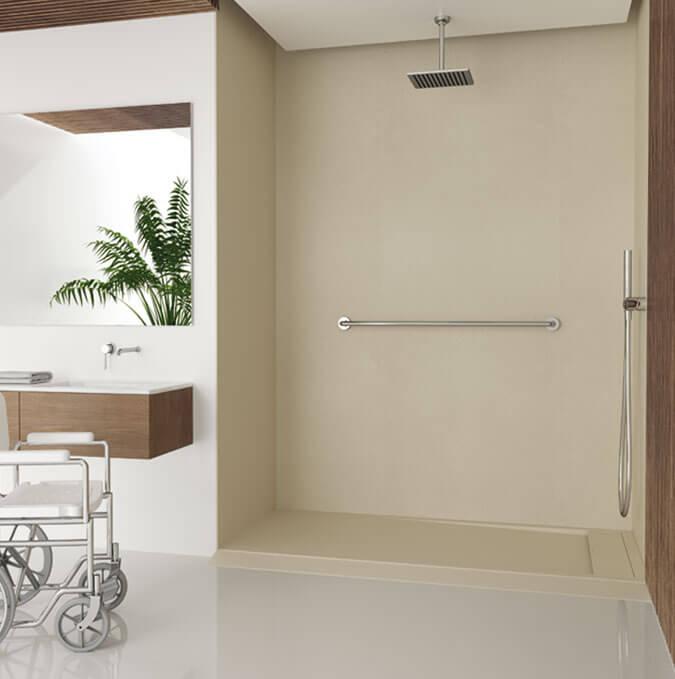 Plato de ducha adaptado para minusválidos Profiltek modelo Matis