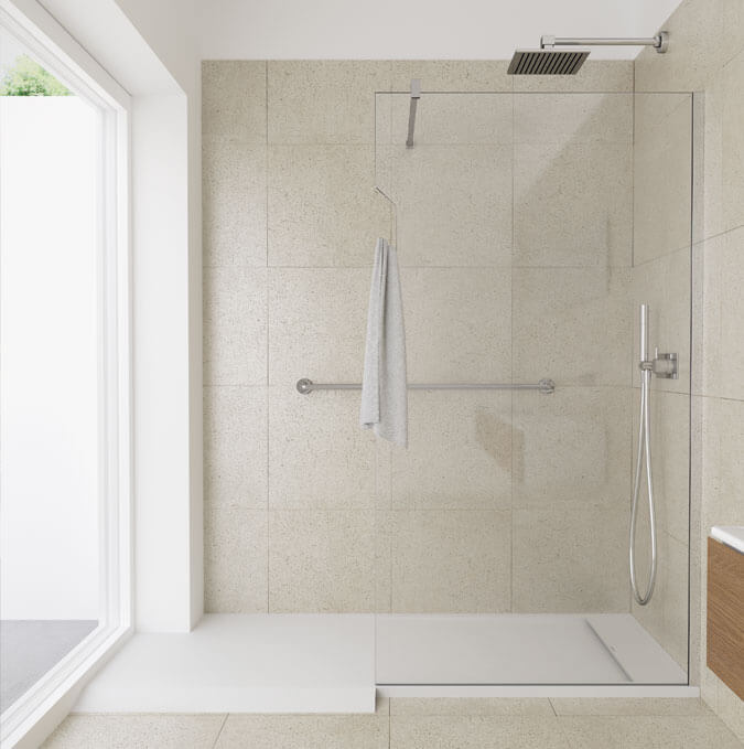 Platos de ducha Matis con rampa de acceso Profiltek
