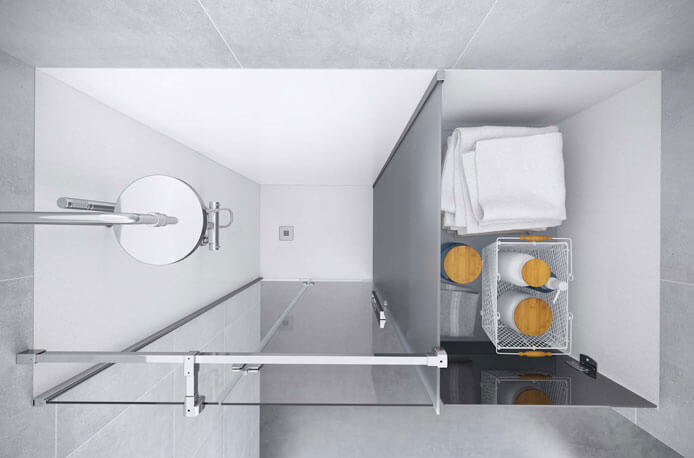 An intelligent solution for creating a storage area in your bathroom