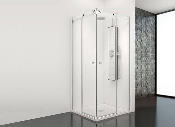 Mampara ducha esquina a medida Profiltek Mo220