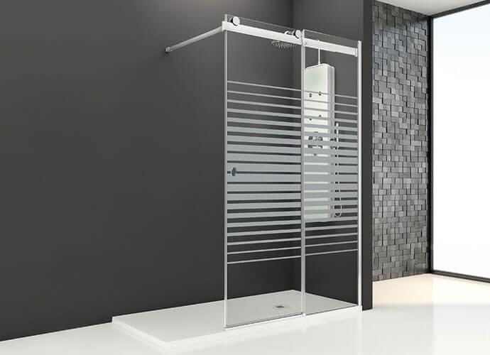 Mampara ducha corredera a medida Profiltek Mo250