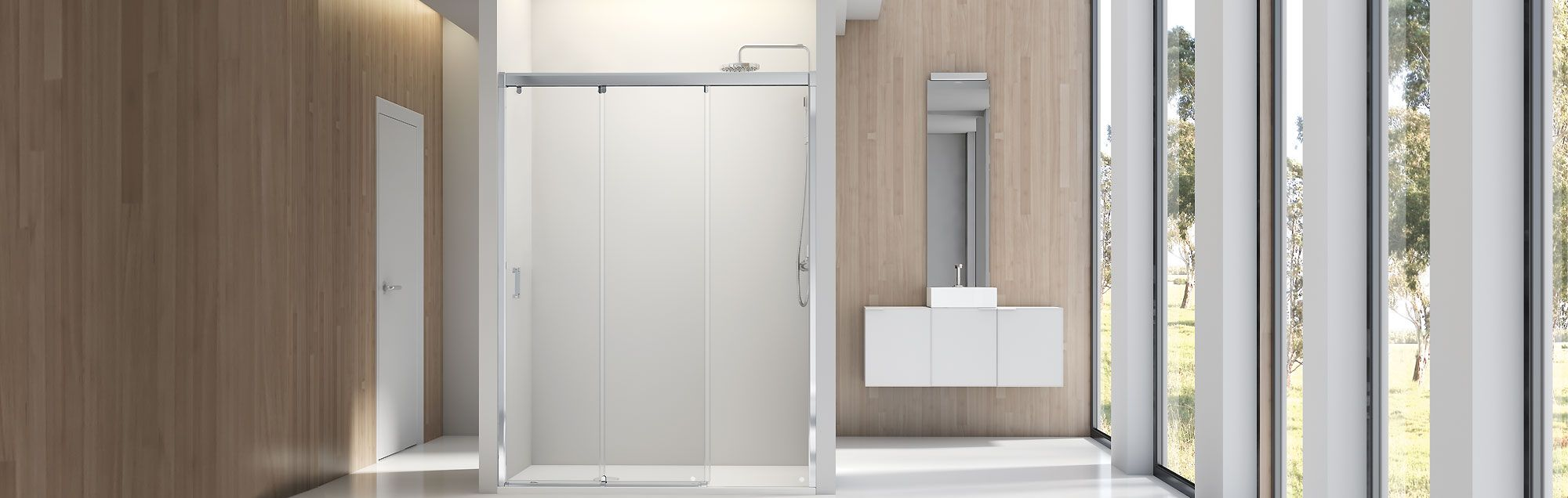 Nell Collection sliding made to measure bathroom enclosures