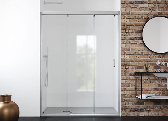 Mampara ducha puertas correderas a medida Profiltek Ne210