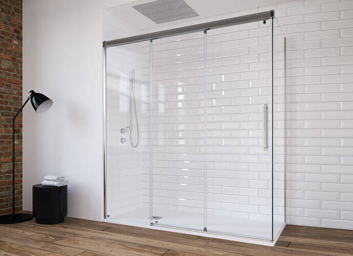 Parois de douche pour la salle de bain sur mesure Profiltek ne290