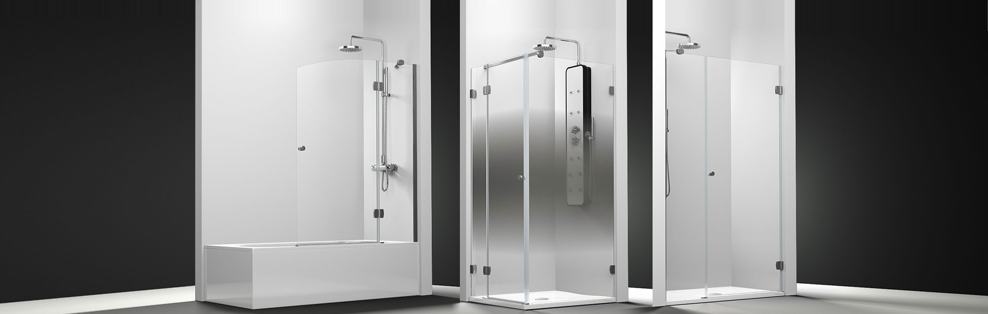 Newglass Collection swinging made to measure bathroom enclosures