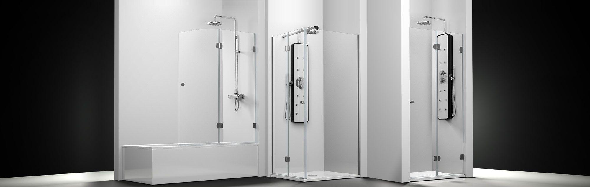 Serie Newglass de mamparas plegables de ducha a medida