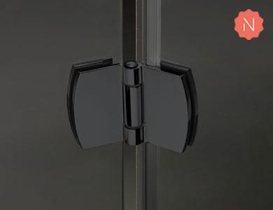 Bisagra negra NEWGLASS Profiltek