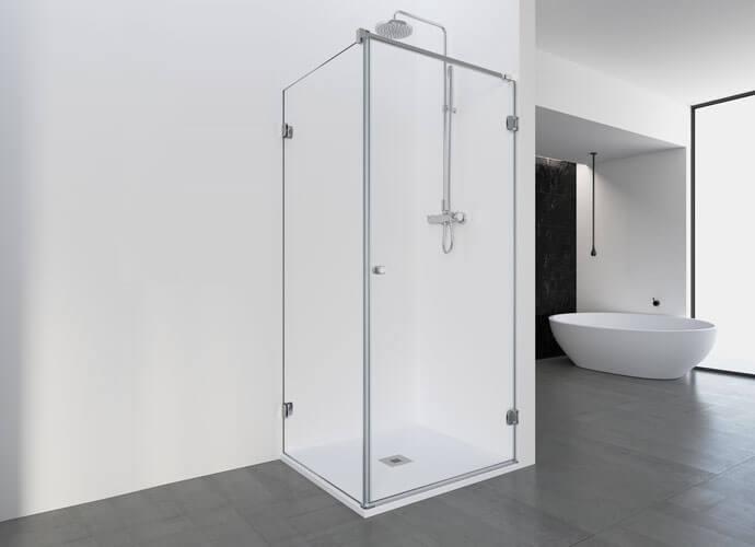 Divisória duche abatível Profiltek ng208