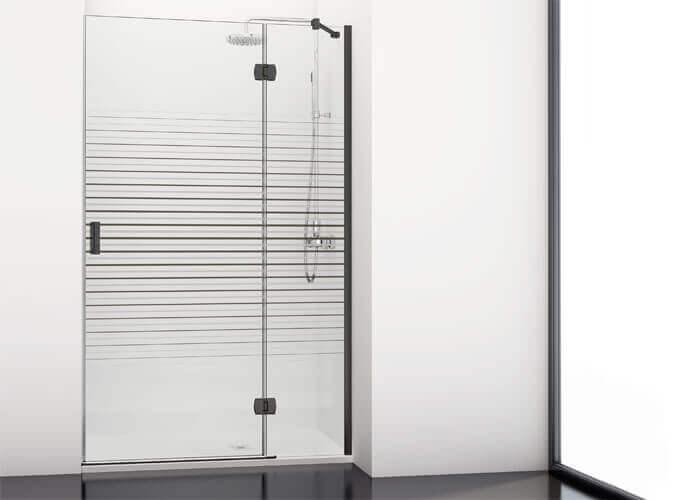 Black swinging shower enclousure made to measure Profiltek ng206
