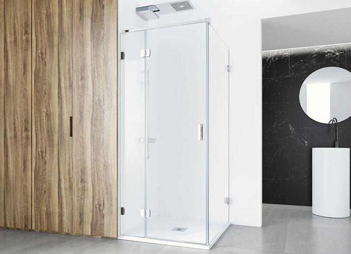 Mampara ducha esquina a medida Profiltek ng216