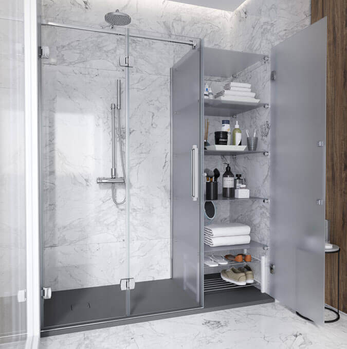 Replace your bathtub with a shower using the Konvert. Profiltek