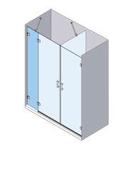 esquema mampara baño personalizada Profiltek