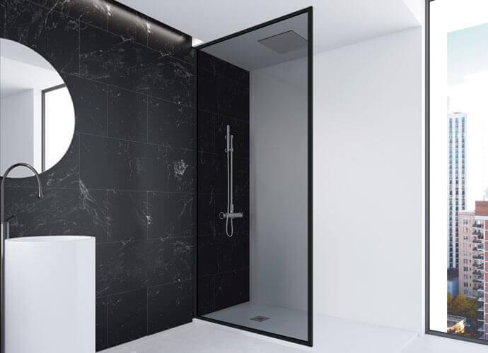 Parois de bain fixe nordic fn216 noir de Profiltek
