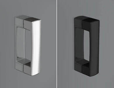 Pommeau Siena de série Pliables, Chrome Brillant /Noir ARCOIRIS PLUS Profiltek