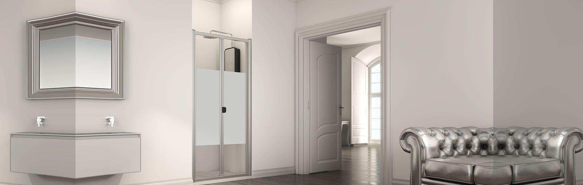 Serie Plegadux di box doccia pieghevoli su misura