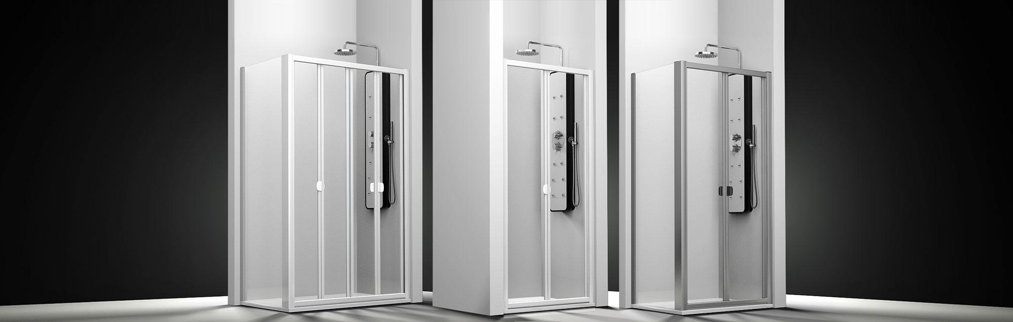 Serie Plegadux de mamparas plegables de ducha a medida